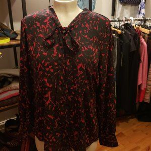 Tops - black and red blouse size small
